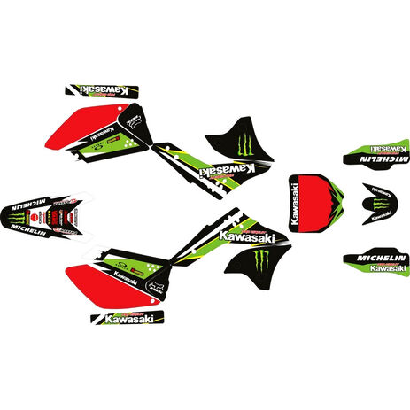_Kit Adhesivos Completo Kawasaki KX 250 F 06-08 Pro Circuit   SK-KX250F0608POPC-P   Greenland MX_
