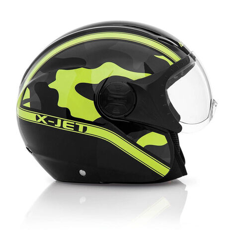 _Casco Acerbis X-Jet On Bike Negro/Amarillo | 0021662.318.00P | Greenland MX_