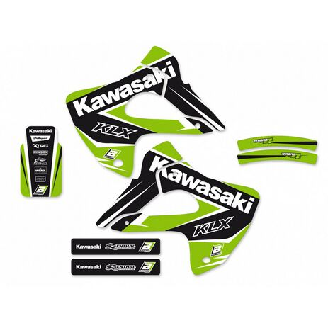 _Kit Adhesivos Blackbird Dream 4 Kawasaki KLX 300 97-08 | 2412N | Greenland MX_