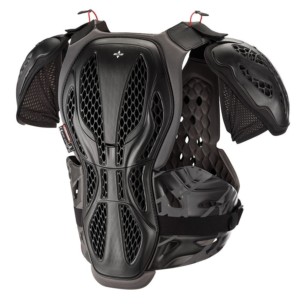 Alpinestars Protector De Pecho Mx Bionic Negro-Gris Xs//S, Negro